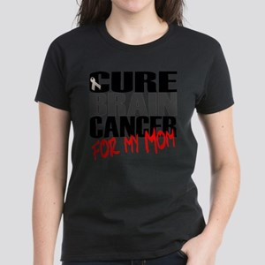 Cure Brain Cancer -- For my Mom Women's Dark T-Shi