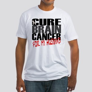 Cure Brain Cancer -- For my Husband Fitted T-Shirt