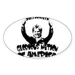 Humorous Hillary Oval Sticker