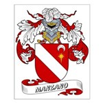 Manzano Family Crest Small Poster