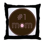 #1 Mom Throw Pillow