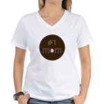#1 Mom Women's V-Neck T-Shirt