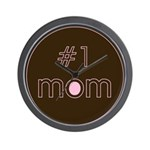#1 Mom Wall Clock