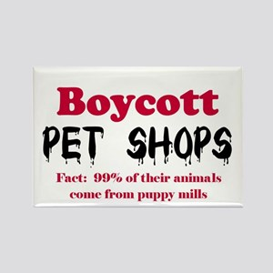 Boycott Pet Shops Rectangle Magnet