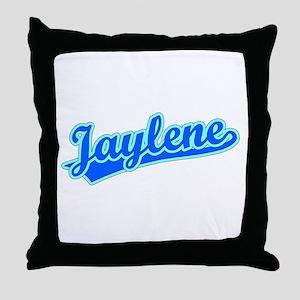Retro Jaylene (Blue) Throw Pillow