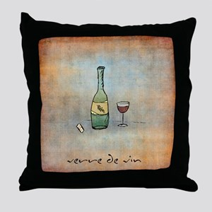 Glass of Wine Throw Pillow