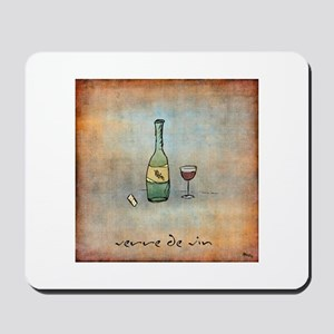 Glass of Wine Mousepad