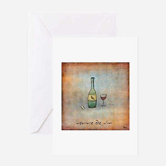Glass of Wine Greeting Card