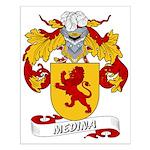 Medina Family Crest Small Poster
