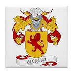Medina Family Crest Tile Coaster