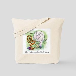 Sheep Spin Tote Bag