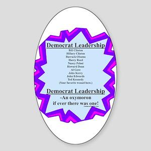 """Democrat Leaders?"" Oval Sticker"