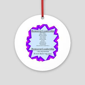 """Democrat Leaders?"" Ornament (Round)"