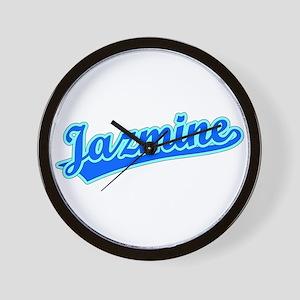 Retro Jazmine (Blue) Wall Clock