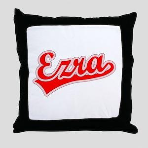 Retro Ezra (Red) Throw Pillow