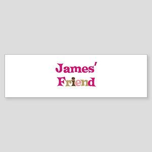 James's Friend Bumper Sticker