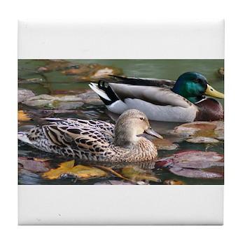 Mallard Couple Tile Coaster