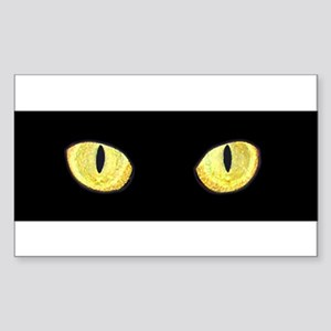 Amber Cat Eyes 10x3 Sticker Sticker