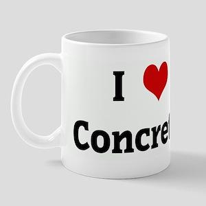 I Love Concrete Mug