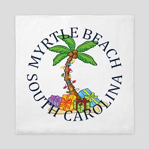 Summer myrtle beach- south carolina Queen Duvet