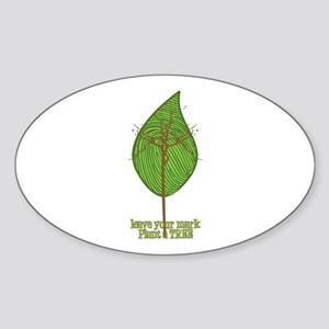 Leave your Mark Tree Oval Sticker