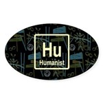 HUMANIST RETRO DARK Oval Sticker (50 pk)