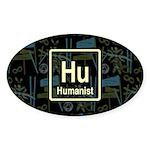 HUMANIST RETRO DARK Oval Sticker (10 pk)