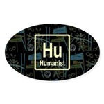 HUMANIST RETRO DARK Oval Sticker