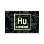 HUMANIST RETRO DARK Rectangle Magnet (100 pack)