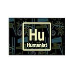 HUMANIST RETRO DARK Rectangle Magnet