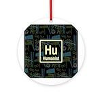 HUMANIST RETRO DARK Ornament (Round)