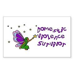 Domestic Violence Survivor Rectangle Sticker 10 p