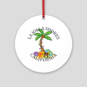 Summer la jolla shores- california Round Ornament