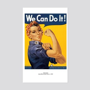 Rosie The Riveter Rectangle Sticker