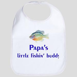 papa's fishin' buddy Bib