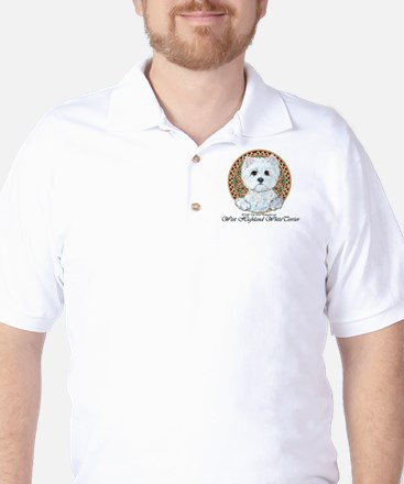 Westie Medallion Terrier Golf Shirt