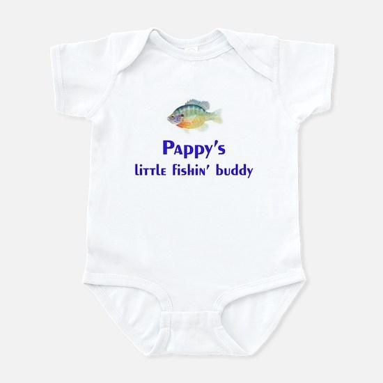 pappy's fishin buddy Infant Bodysuit