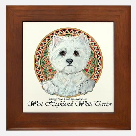 Westie Medallion Terrier Framed Tile