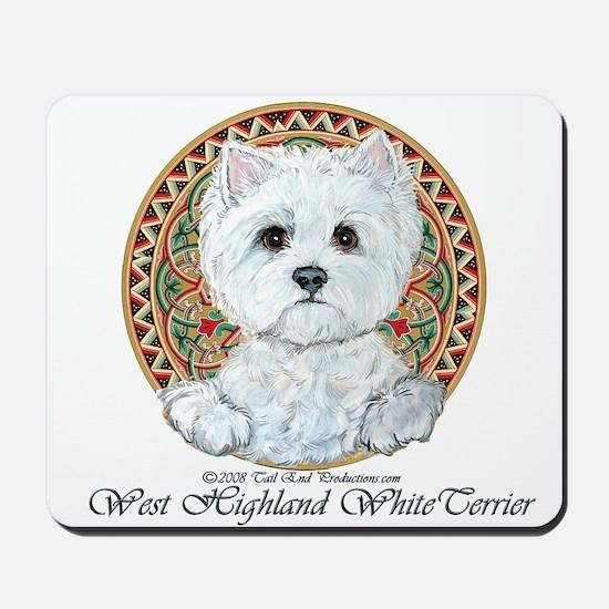 Westie Medallion Terrier Mousepad