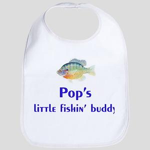 pop's fishin buddy Bib