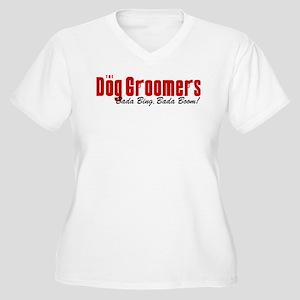 The Dog Groomers Bada Bing Women's Plus Size V-Nec