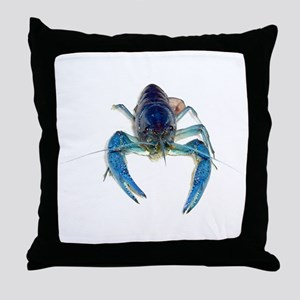 Blue Crayfish Throw Pillow