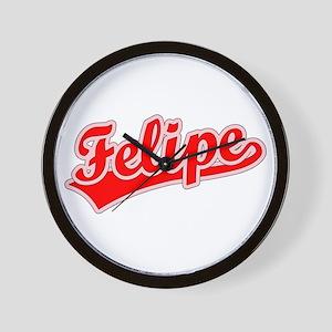 Retro Felipe (Red) Wall Clock