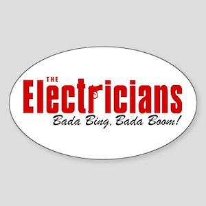 The Electricians Bada Bing Oval Sticker