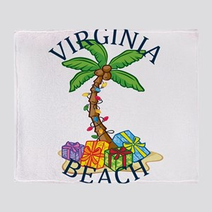 Summer virginia beach- virginia Throw Blanket