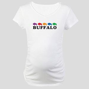Colorful Buffalo Maternity T-Shirt
