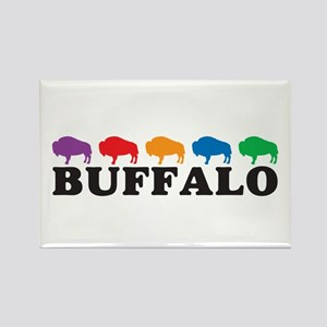 Colorful Buffalo Rectangle Magnet