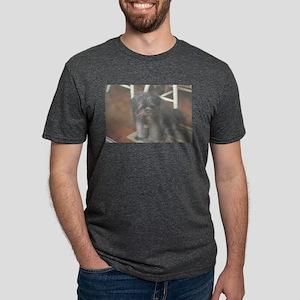 happy dark dog at party T-Shirt