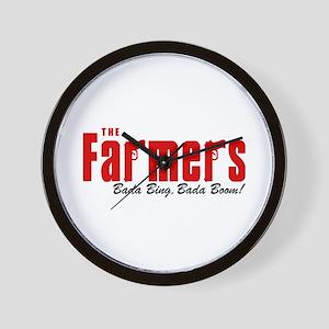 The Farmers Bada Bing Wall Clock