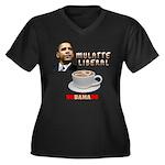 Obama 'Mulatte Liberal' Women's Plus Size V-Neck D